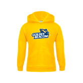 Youth Gold Fleece Hoodie-Goldey-Beacom Official Logo