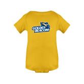 Gold Infant Onesie-Goldey-Beacom Official Logo