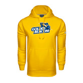 Under Armour Gold Performance Sweats Team Hoodie-Goldey-Beacom Official Logo