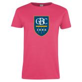 Ladies Fuchsia T Shirt-GBC Shield