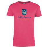 Ladies Fuchsia T Shirt-Goldey Beacom College Vertical