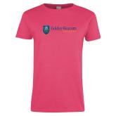 Ladies Fuchsia T Shirt-Goldey Beacom College Horizontal