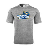 Performance Grey Heather Contender Tee-Goldey-Beacom Official Logo