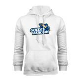 White Fleece Hoodie-Goldey-Beacom Official Logo