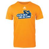 Adidas Gold Logo T Shirt-Goldey-Beacom Official Logo