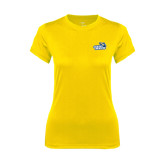 Ladies Syntrel Performance Gold Tee-Goldey-Beacom Official Logo