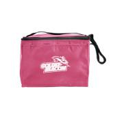 Six Pack Pink Cooler-Goldey-Beacom Official Logo