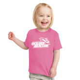 Toddler Fuchsia T Shirt-Goldey-Beacom Official Logo