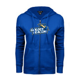 ENZA Ladies Royal Fleece Full Zip Hoodie-Goldey-Beacom Official Logo