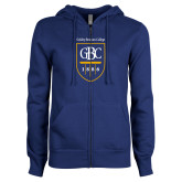 ENZA Ladies Royal Fleece Full Zip Hoodie-GBC Shield with School Name