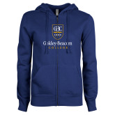 ENZA Ladies Royal Fleece Full Zip Hoodie-Goldey Beacom College Vertical