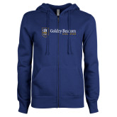 ENZA Ladies Royal Fleece Full Zip Hoodie-Goldey Beacom College Horizontal