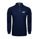 Navy Long Sleeve Polo-Goldey-Beacom Official Logo
