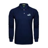 Navy Long Sleeve Polo-Goldey-Beacom Official Logo