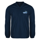 V Neck Navy Raglan Windshirt-Goldey-Beacom Official Logo