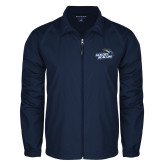 Full Zip Navy Wind Jacket-Goldey-Beacom Official Logo