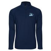 Sport Wick Stretch Navy 1/2 Zip Pullover-GBC
