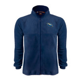 Fleece Full Zip Navy Jacket-Lightning Man