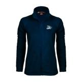 Ladies Fleece Full Zip Navy Jacket-GBC