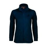 Ladies Fleece Full Zip Navy Jacket-Goldey-Beacom Official Logo