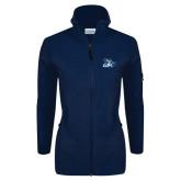 Columbia Ladies Full Zip Navy Fleece Jacket-GBC