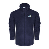 Columbia Full Zip Navy Fleece Jacket-Goldey-Beacom Official Logo