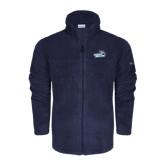 Columbia Full Zip Navy Fleece Jacket-Goldey-Beacom Official Logo