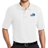 White Easycare Pique Polo-Goldey-Beacom Official Logo