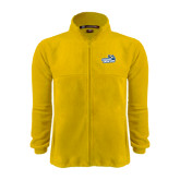 Fleece Full Zip Gold Jacket-Goldey-Beacom Official Logo