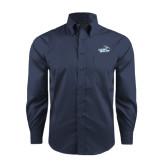 Red House Deep Blue Herringbone Long Sleeve Shirt-Goldey-Beacom Official Logo