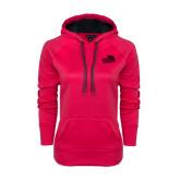 Ladies Pink Raspberry Tech Fleece Hoodie-Goldey-Beacom Official Logo