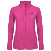 Ladies Fleece Full Zip Raspberry Jacket-Goldey-Beacom Official Logo