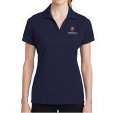 Ladies Navy Dry Mesh Polo-Goldey Beacom College Vertical