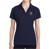 Ladies Navy Dry Mesh Polo-GBC Shield