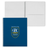 College Spiral Notebook w/Clear Coil-GBC Shield with School Name