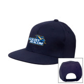 Navy Flat Bill Snapback Hat-Goldey-Beacom Official Logo