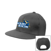 Charcoal Flat Bill Snapback Hat-Goldey-Beacom Official Logo