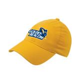 Gold Flexfit Mid Profile Hat-Goldey-Beacom Official Logo