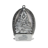 Pewter Tree Ornament-Goldey-Beacom Official Logo Engraved