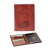 Fabrizio Brown RFID Passport Holder-Goldey-Beacom Official Logo Engraved