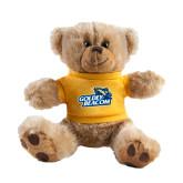 Plush Big Paw 8 1/2 inch Brown Bear w/Gold Shirt-Goldey-Beacom Official Logo