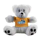 Plush Big Paw 8 1/2 inch White Bear w/Gold Shirt-Goldey-Beacom Official Logo