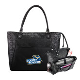 Sophia Checkpoint Friendly Black Compu Tote-Goldey-Beacom Official Logo