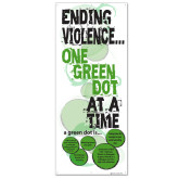 33.5 x 80 Vertical Banner w/ Grommets, X Banner Stand not included-Ending Violence