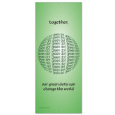 33.5 x 80 Vertical Banner w/ Grommets, X Banner Stand not included-Globe Green