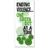 33.5 x 80 Vertical Banner including Silver Retractable Banner Stand-Ending Violence