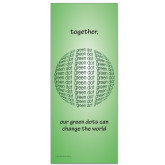 33.5 x 80 Vertical Banner including Silver Retractable Banner Stand-Globe Green
