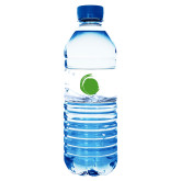 Water Bottle Labels 10/pkg-Green Dot