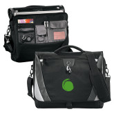 Slope Black/Grey Compu Messenger Bag-Green Dot