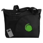 Excel Black Sport Utility Tote-Green Dot